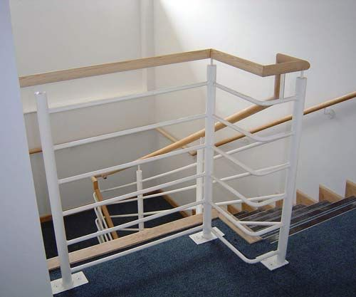 Mild Steel & Timber Balustrade